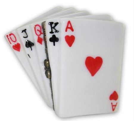 Playing Cards Ceramic Box