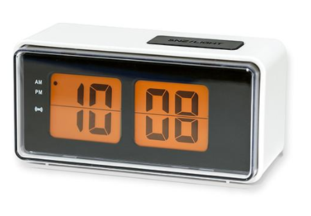 Digital White Alarm Clock