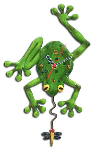 Frog Fly Pendulum Wall Clock