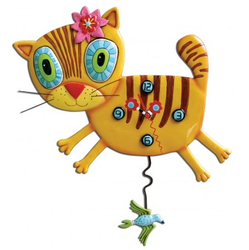 Kimi Kitty Cat Pendulum Wall Clock