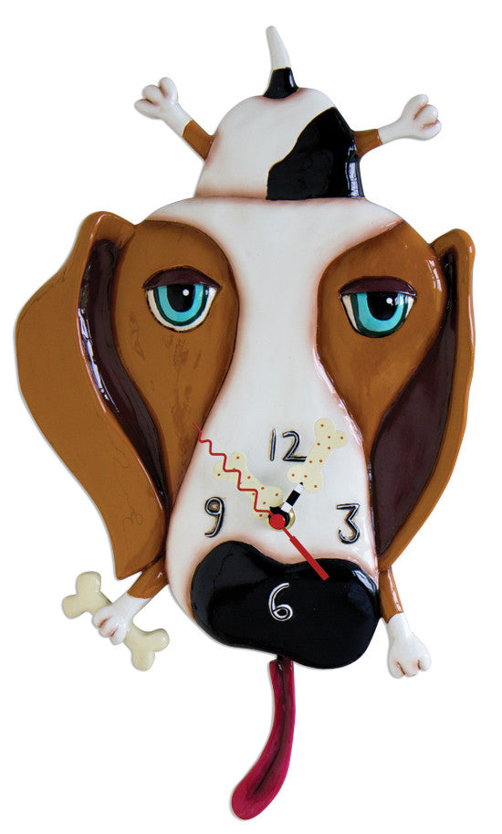 Buckley Dog Pendulum Wall Clock