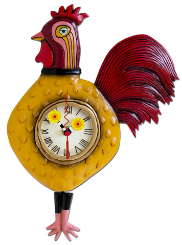 CockaDoodle Rooster Pendulum Wall Clock