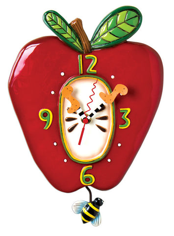 Apple Pendulum Wall Clock