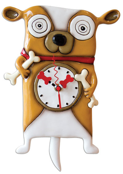 Roofus Dog Pendulum Wall Clock
