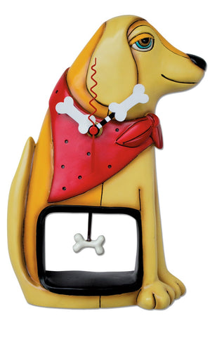 Molly Dog Pendulum Wall/Table Clock