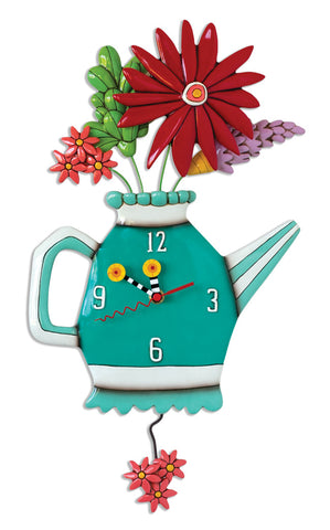 Spring Bouquet Pendulum Wall Clock