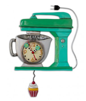 Green Vintage Mixer Pendulum Wall Clock