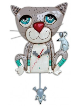 Mouser Cat Pendulum Wall Clock