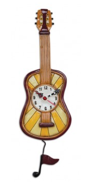 Warm Tunes Guitar Pendulum Wall Clock