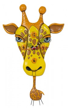 Jaffy the Giraffe Pendulum Wall Clock
