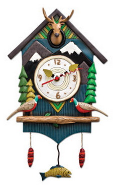 Mountain Time Pendulum Wall Clock