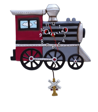 Choo Choo Train Pendulum Wall Clock