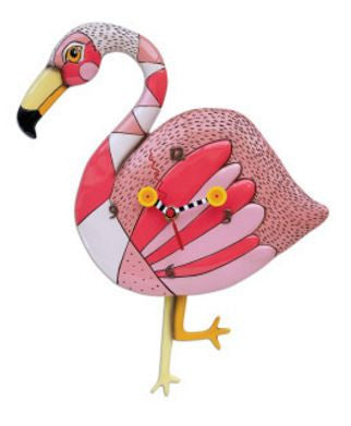 Crazy Legs Flamingo Pendulum Wall Clock