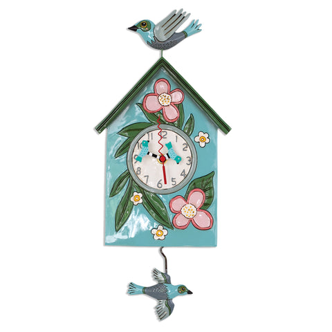 Blessed Nest Pendulum Wall Clock