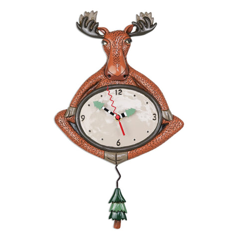 Yoga Moose Wall Clock
