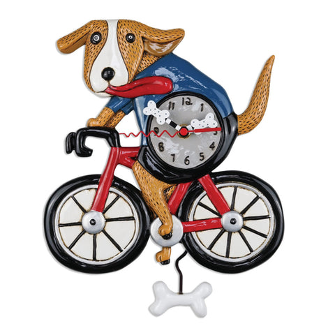 Bicycle Dog Wall Clock