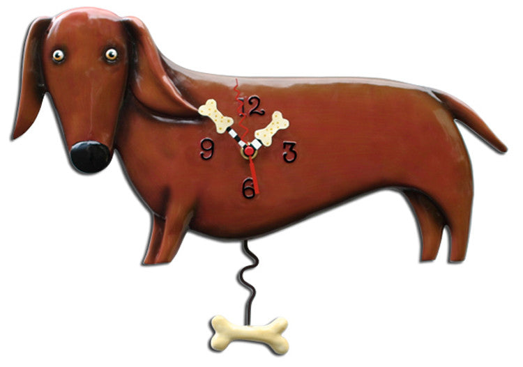 Oscar Dog Pendulum Wall Clock