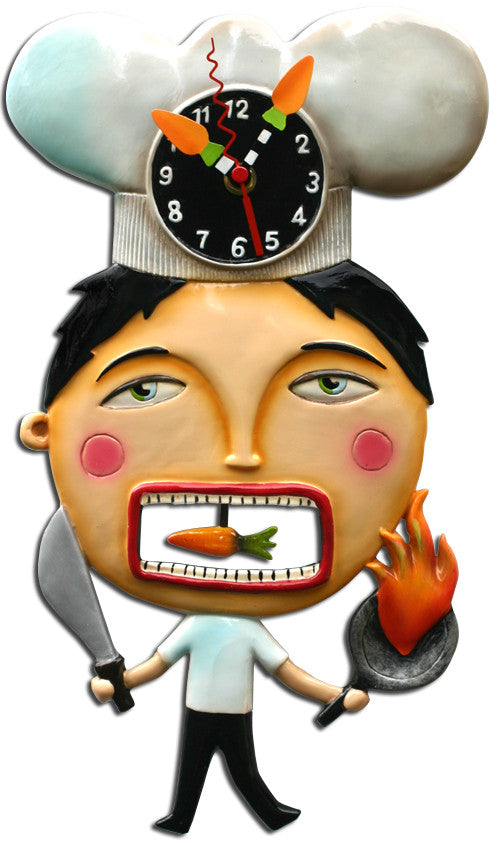 Chef Suey Pendulum Wall Clock