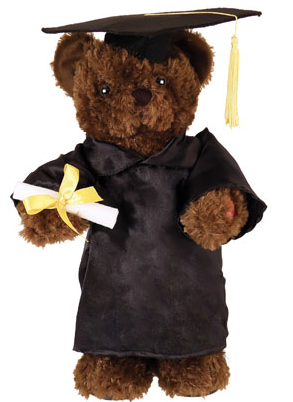 Dancing & Singing Animated Graduation Bear