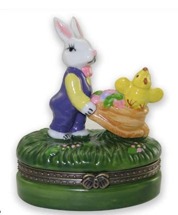 Bunny & Chick Ceramic Box