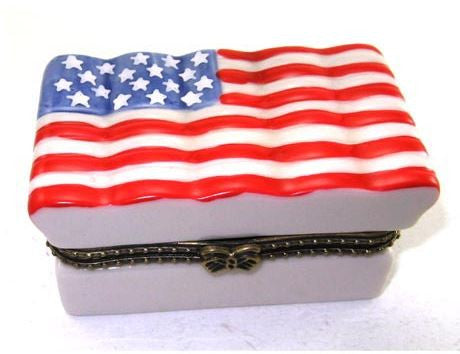 American Flag Ceramic Box