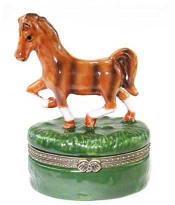 Running Horse Ceramic Box