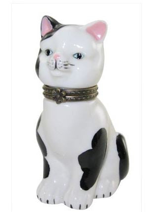 Black & White Cat Ceramic Box