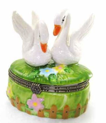 Two Swans Ceramic Box