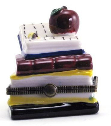 Apple on Books Ceramic Box