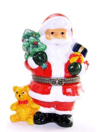Santa With a Tree Ceramic Box