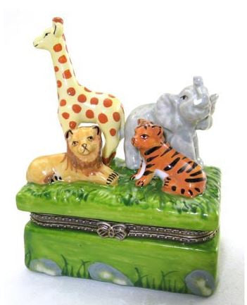 Animals in Jungle Ceramic Box