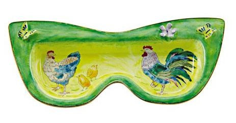 Rooster Family Eyeglass Holder