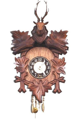 Black Forest Novelty Key-Wound Clock with Deer Head