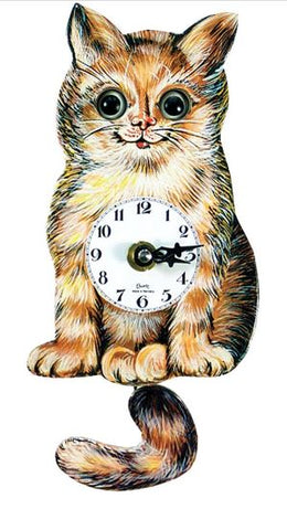 Black Forest Novelty Cat Clock