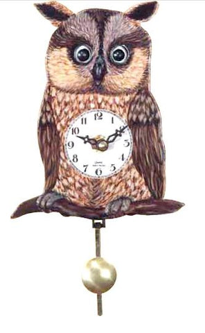 Black Forest Novelty Battery Owl Cuckoo Clock