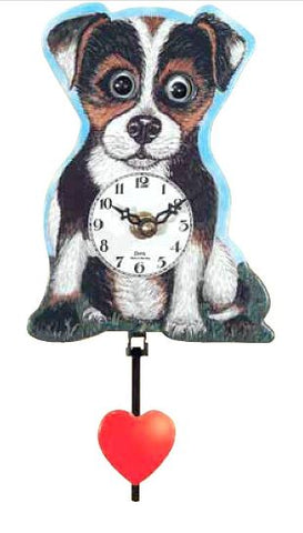 Black Forest Novelty Battery Dog Cuckoo Clock