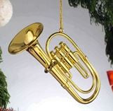 Goldtone Tuba Hanging Decoration