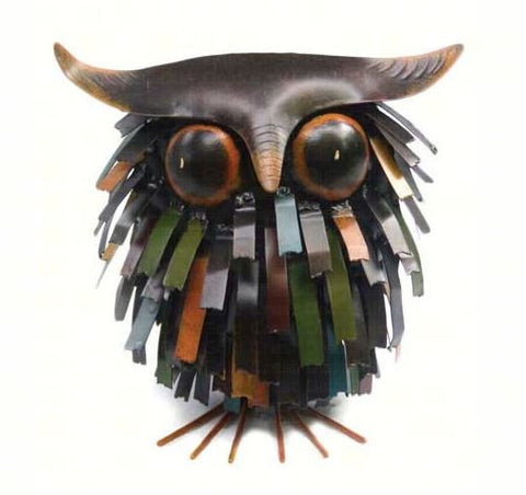 Spikey Owl Sculpture