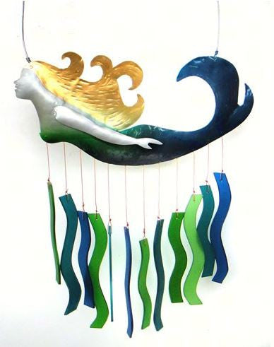 Mermaid Sea-Glass Wind Chime