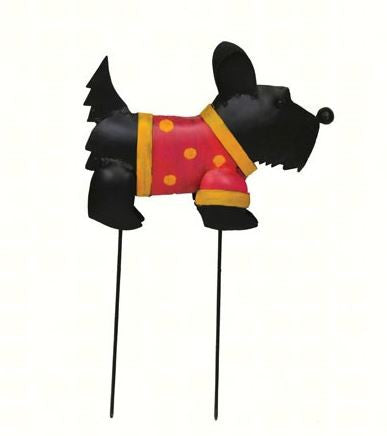 Black Scottie Garden Stake