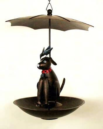Black Dog & Bird Birdfeeder