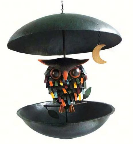 Spikey Owl Bistro Bird Feeder