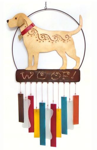 Lab Woof Sea-Glass Wind Chime