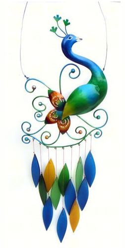 Peacock Sea-Glass Wind Chime