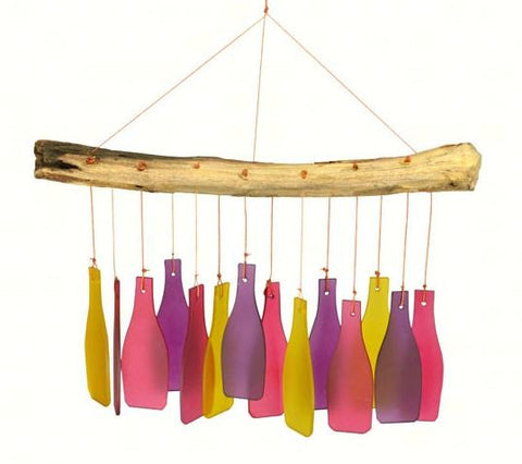Glass Bottle Sea-Glass Wind Chime