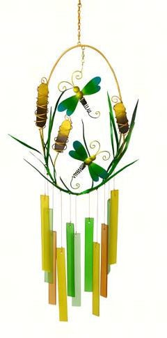 Dragonflies & Cattails Wind Chime