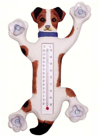 Climbing Jack Russel Small Window Thermometer