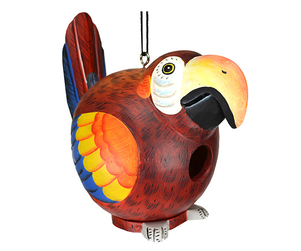 Red Parrot Gord-O Birdhouse