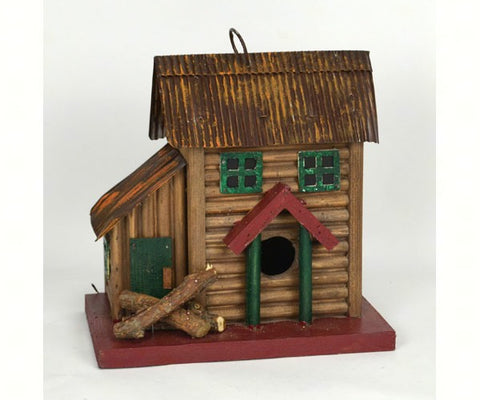 Two Story Cabin Birdhouse
