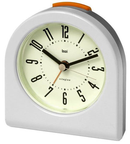 Pick Me Up Cyber White Alarm Clock